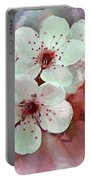 Apple Blossoms In Soft Pink - Digital Paint Portable Battery Charger