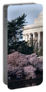 Cherry Blossoms Jefferson Memorial Portable Battery Charger