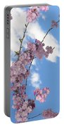 Cherry Floral Fountain Portable Battery Charger