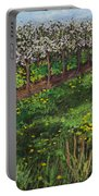 Cherry Orchard Evening Portable Battery Charger