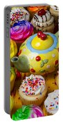 Cherry Teapot And Cupcakes Portable Battery Charger