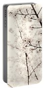 Cherry Tree Blossom Artistic Closeup Sepia Toned Portable Battery Charger