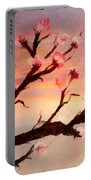 Cherry Tree Expresssive Brushstrokes Portable Battery Charger