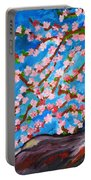 Cherry Tree In Blossom  Portable Battery Charger by Ramona Matei