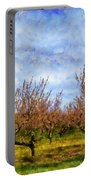 Cherry Trees With Blue Sky Portable Battery Charger