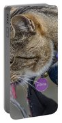 Chester At The Drinking Fountain Portable Battery Charger