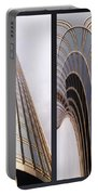 Chicago Abstract Before And After Sunrays On Trump Tower 2 Panel Portable Battery Charger