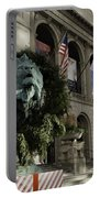 Chicago Art Institute Guardian Portable Battery Charger by Sebastian Musial