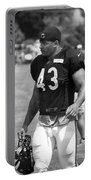 Chicago Bears Fb Tony Fiammetta Training Camp 2014 Bw Portable Battery Charger