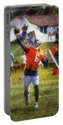 Chicago Bears Qb Jay Cutler Training Camp 2014 04 Photo Art 02 Portable Battery Charger