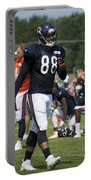 Chicago Bears Te Dante Rosario Training Camp 2014 02 Portable Battery Charger