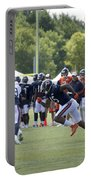 Chicago Bears Wr Brandon Marshall Training Camp 2014 05 Portable Battery Charger