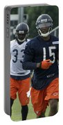 Chicago Bears Wr Brandon Marshall Training Camp 2014 06 Portable Battery Charger