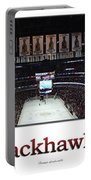 Chicago Blackhawks At Home Panorama White Portable Battery Charger