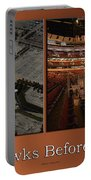 Chicago Blackhawks Before The Gates Open Interior 2 Panel Tan 01 Portable Battery Charger