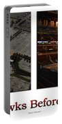 Chicago Blackhawks Before The Gates Open Interior 2 Panel White 01 Portable Battery Charger