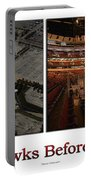 Chicago Blackhawks Before The Gates Open Interior 2 Panel White 02 Portable Battery Charger