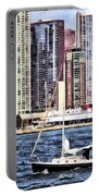 Chicago Il - Sailing On Lake Michigan Portable Battery Charger