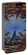 Chicago Looking East Polar View Portable Battery Charger