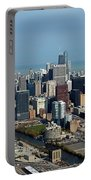 Chicago Looking North 03 Portable Battery Charger