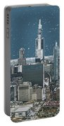 Chicago Looking West In A Snow Storm Digital Art Portable Battery Charger