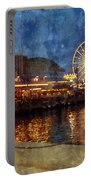 Chicago Navy Pier At Night Portable Battery Charger