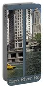 Chicago River Boat Rides 2 Panel Portable Battery Charger