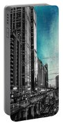 Chicago River Hdr Sc Textured Portable Battery Charger