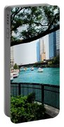 Chicago River Scene Portable Battery Charger