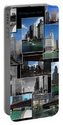 Chicago River Walk Collage Portable Battery Charger
