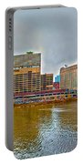 Chicago Skyline And Streets Portable Battery Charger