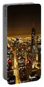 Chicago Skyline At Night I Portable Battery Charger