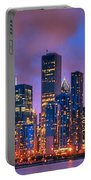 Chicago Skyline From Navy Pier View 2 Portable Battery Charger
