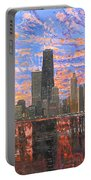 Chicago Skyline - Lake Michigan Portable Battery Charger