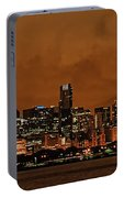 Chicago Skyline Panorama At Dusk Portable Battery Charger