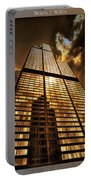 Chicago Tall Shoulders Trump Sears Tribune Triptych 3 Panel 01 Portable Battery Charger