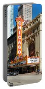 Chicago Theater Marquee Sign On State Street Portable Battery Charger