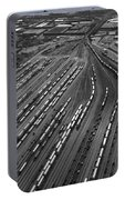 Chicago Transportation 02 Black And White Portable Battery Charger