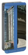 Chicago Trump Tower Under Const 2 Panel Portable Battery Charger