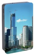 Chicago Trump Tower Under Construction Portable Battery Charger