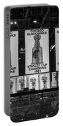Chicago United Center Banners Bw Portable Battery Charger