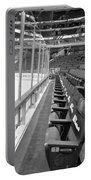 Chicago United Center Before The Gates Open Blackhawk Seat One Bw Portable Battery Charger