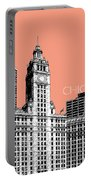 Chicago Wrigley Building - Salmon Portable Battery Charger