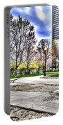 Chicago's Jane Addams Memorial Park From The Series The Imprint Of Man In Nature Portable Battery Charger