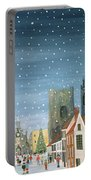 Chichester Cathedral A Snow Scene Portable Battery Charger