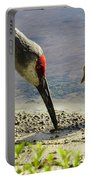 Chick At The Lake Portable Battery Charger