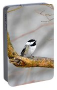 Chickadee In Rain Portable Battery Charger
