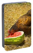 Chicken And Her Watermelon Portable Battery Charger