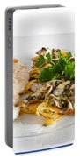 Chicken Escalope With Potatoes And Mushroom Portable Battery Charger
