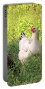 Chickens In Tall Grass Portable Battery Charger